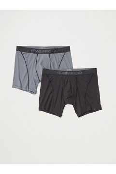 Men's Give-N-Go 2.0 Sport Mesh 6'' Boxer Brief 2-Pack, Black/Steel Onyx, medium