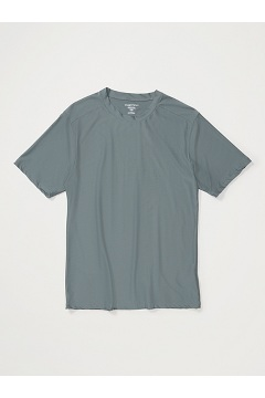 Men's Give-N-Go Crew Neck Tee, Charcoal, medium