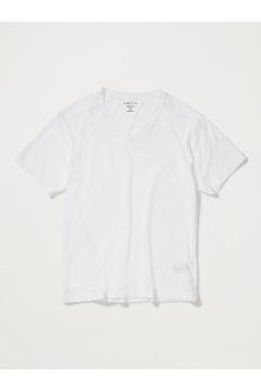 Men's Give-N-Go V-Neck Tee, White, medium