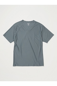 Men's Give-N-Go V-Neck Tee, Charcoal, medium