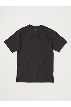 Men's Give-N-Go 2.0 Crew Neck Tee, Black, medium