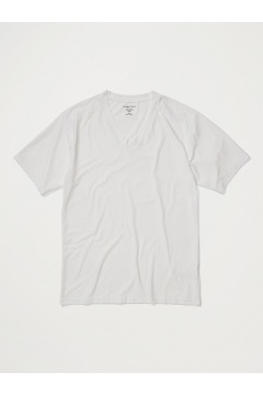 Men's Give-N-Go 2.0 V-Neck Tee, White, medium