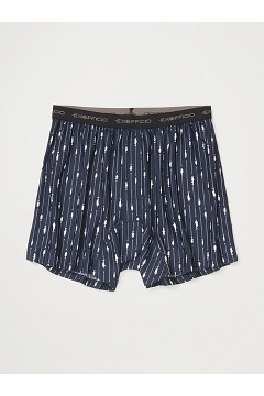 Men's Give-N-Go Printed Boxer, Navy Fish Hook, medium