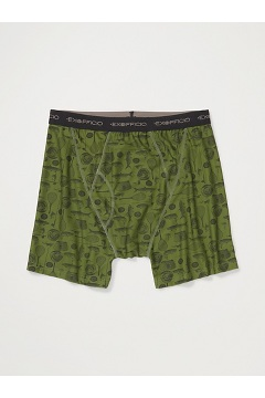 Men's Give-N-Go Printed Boxer Brief, Alpine Green Fly Fishing, medium