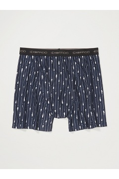Men's Give-N-Go Printed Boxer Brief, Navy Fish Hook, medium