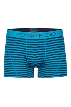 Men's Give-N-Go Sport Mesh Printed 3'' Boxer Brief, Navy Double Stripe, medium
