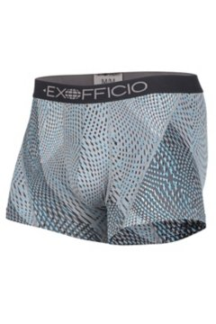 Give-N-Go Sport Mesh Print 3'' Boxer Brief, Dk Pebble Diagonal, medium