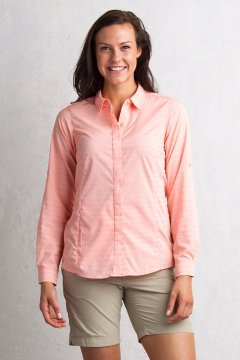 Ventana Stripe L/S, Cantaloupe, medium