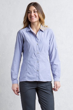 Women's Lightscape Long-Sleeve Shirt, Lilac Grey, medium