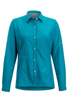 Women's Lightscape Long-Sleeve Shirt, Algiers Blue, medium