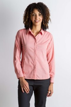 Ventana Stripe L/S, Paprika, medium