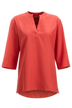 Kizmet 3/4 Sleeve Shirt, Spiced Coral, medium