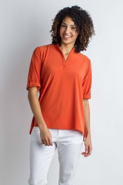 Kizmet 3/4 Sleeve Shirt, Paprika, medium
