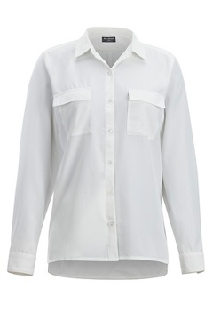 Kizmet LS Shirt, White, medium