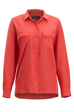 Women's Kizmet Long-Sleeve Shirt, Spiced Coral, medium