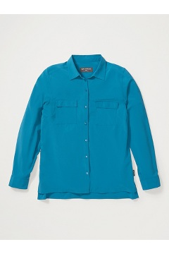 Women's Kizmet Long-Sleeve Shirt, Atlantic, medium