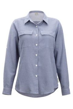 Sovita LS Shirt, Bellflower Check, medium