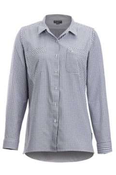 Palata Check LS Shirt, White/Blue Heron, medium