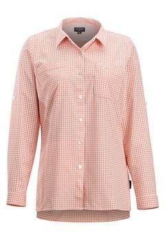 Palata Check LS Shirt, White/Spritzer, medium