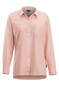 Palata Check LS Shirt, White/Spritzer, medium