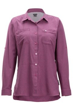 Palata Check LS Shirt, Rosebay/Navy, medium