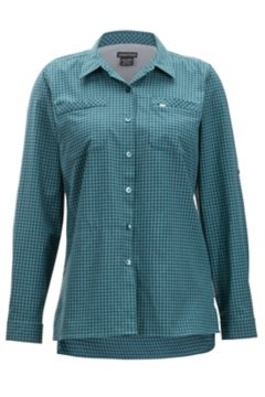 Palata Check LS Shirt, Malachite/Black, medium