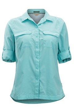 Women's Missoula Long-Sleeve Shirt, Mystic Blue, medium