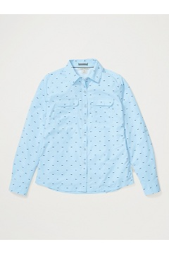 Women's Missoula Long-Sleeve Shirt, Blue Bell Micro Fish, medium