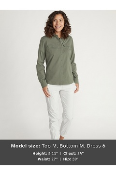 Women's Missoula Long-Sleeve Shirt, Oyster, medium