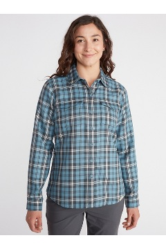Women's Madison Midweight Flannel, White, medium