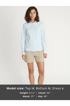 Women's Balandra Long-Sleeve Shirt, Blue Bell, medium