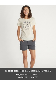Women's Voyager Short-Sleeve T-Shirt, Charcoal Heather, medium