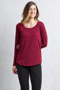 Wanderlux Scoop Neck, Malbec, medium