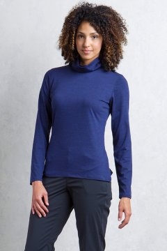 Wanderlux Marl Turtleneck, Blueprint Marl, medium