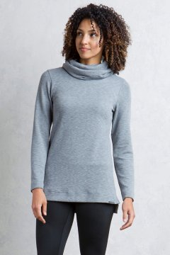 Cordova Cowl Tunic, Cement Marl, medium