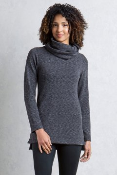 Cordova Cowl Tunic, Black Marl, medium