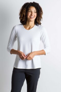 Wanderlux 3/4 Sleeve, White, medium