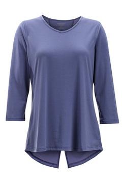 Wanderlux 3/4 Sleeve Shirt, Blue Heron, medium