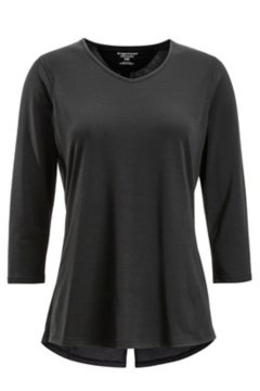 Wanderlux 3/4 Sleeve Shirt, Black, medium