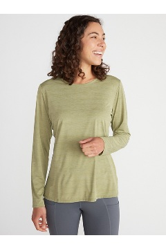 Women's Sol Cool Kaliani Long-Sleeve Shirt, Oil Green Heather, medium