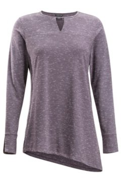 Wanderlux Marl Tunic, Eggplant Heather, medium