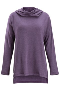 Lavoria Cowl Tunic, Eggplant Heather, medium