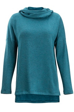 Lavoria Cowl Tunic, Adriatic Heather, medium