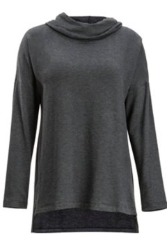 Lavoria Cowl Tunic, Black Heather, medium