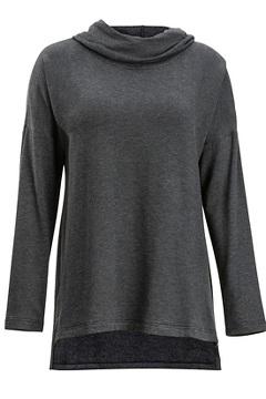 Lavoria Cowl Tunic, Black Heather, medium
