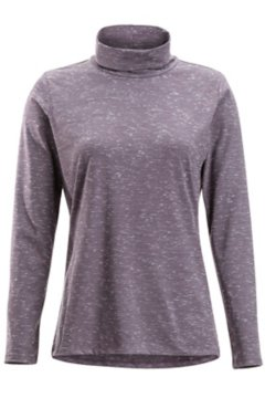 Wanderlux Marl Turtleneck, Eggplant Heather, medium