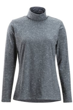 Wanderlux Marl Turtleneck, Black Heather, medium