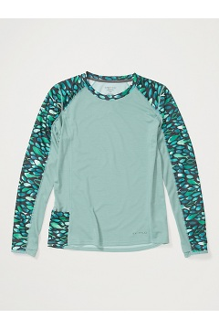 Women's Hyalite Long-Sleeve Shirt, Trellis/Watercolor Fish, medium