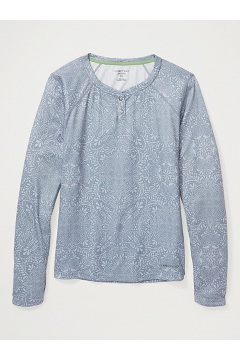 Women's Hyalite UPF 50 Long-Sleeve Shirt, Sleet Fish Paisley, medium