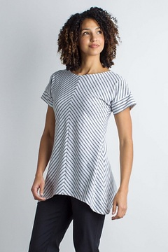 Wanderlux Crossback Stripe S/S, White, medium